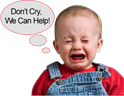 Don't Cry, We Can Help!